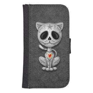 Gray Zombie Sugar Kitten Cat Wallet Phone Case For Samsung Galaxy S4