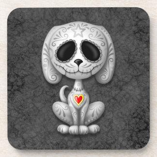 Gray Zombie Sugar Puppy Dog Drink Coaster