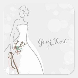 'Graycious' Bride Square Sticker