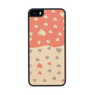 grayhearts coralinos .ai funda de arce carved® para iPhone 5