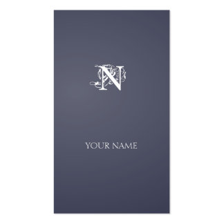 Grayish Blue Nouveau vertical line Double-Sided Standard Business Cards (Pack Of 100)