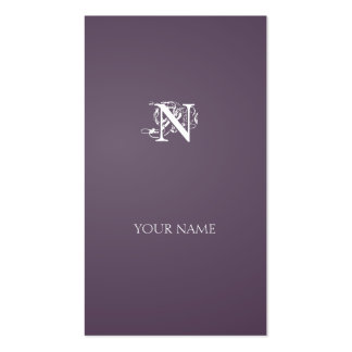 Grayish Magenta Nouveau vertical line Double-Sided Standard Business Cards (Pack Of 100)