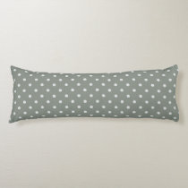 Grayish Teal Polka Dot Body Pillow