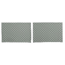 Grayish Teal Polka Dot Pillowcase