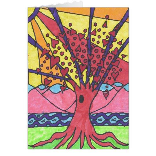 Grayland Daisy Tree of Love Card