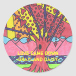 Grayland Daisy Tree of Love Round Sticker...