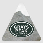 Grays Peak 14,270 FT CO Mountain Stickers