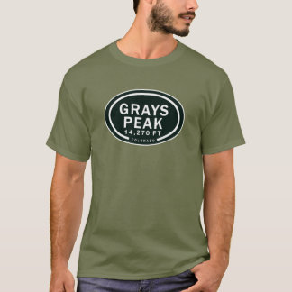 Grays Peak 14,270 FT CO Mountain T-Shirt