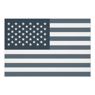 Grayscale American Flag Photo
