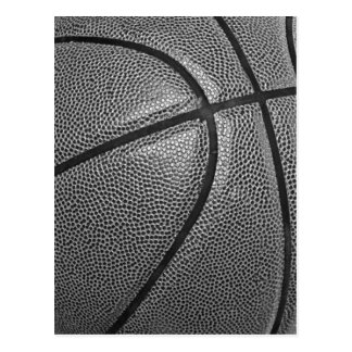 Grayscale Basketball Postcard