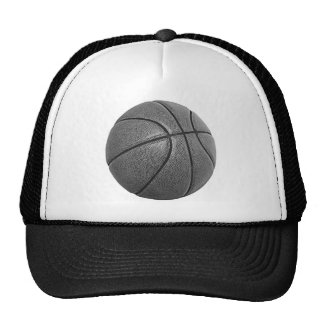 Grayscale Basketball Trucker Hat
