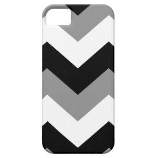 Grayscale Black Gray & White Chevron iPhone 5 Cover