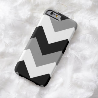 Grayscale Black Gray & White Chevron Barely There iPhone 6 Case
