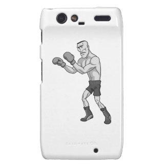 grayscale boxer droid RAZR cases