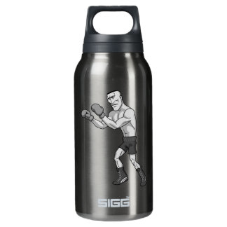 grayscale boxer thermos bottle