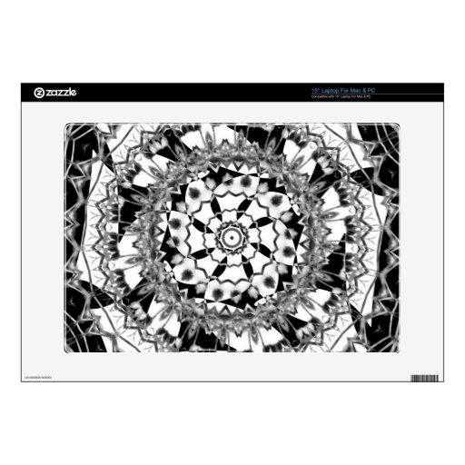 Grayscale Cactus May 2013 Laptop Decals