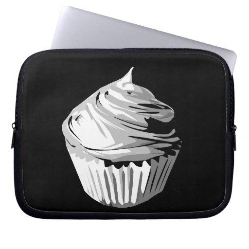 Grayscale cupcake electronics sleeve computer sleeve
