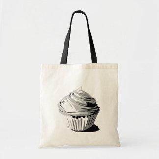 Grayscale cupcake tote tote bag