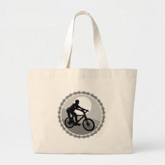 grayscale del piñón de cadena de la bici de montañ bolsa tela grande