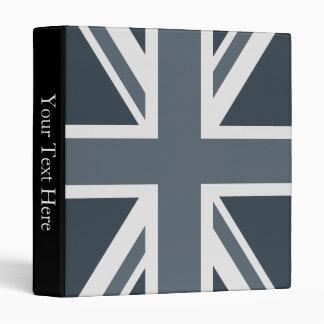 Grayscale England Flag Binder