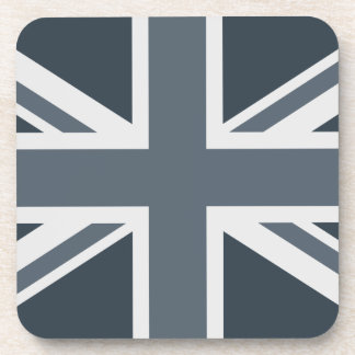 Grayscale England Flag Drink Coasters