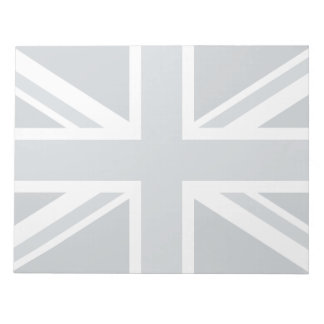Grayscale England Flag Notepad