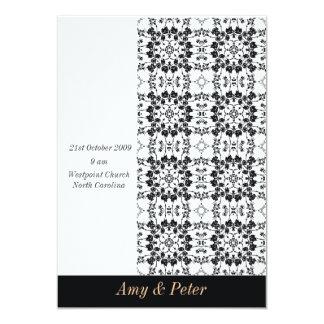 grayscale Florish wedding invitation card