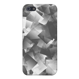 Grayscale (greyscale) Cubism art iPhone 5 Cases