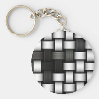 Grayscale knitted background keychain