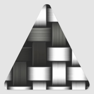 Grayscale knitted background triangle sticker