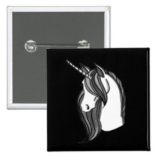 Grayscale the Unicorn   choose your color Pinback Button