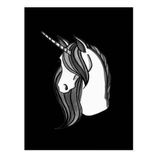 Grayscale the Unicorn   choose your color Postcard