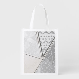 Grayscale tribal del modelo del triángulo bolsas de la compra
