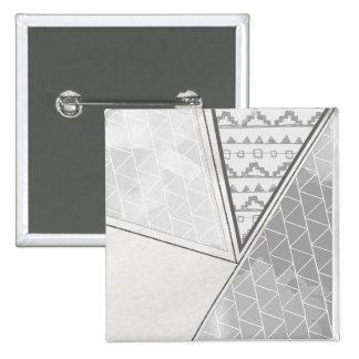 Grayscale tribal del modelo del triángulo pin cuadrado