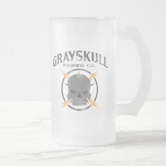 Grayskull Power Co. 16 Oz Frosted Glass Beer Mug
