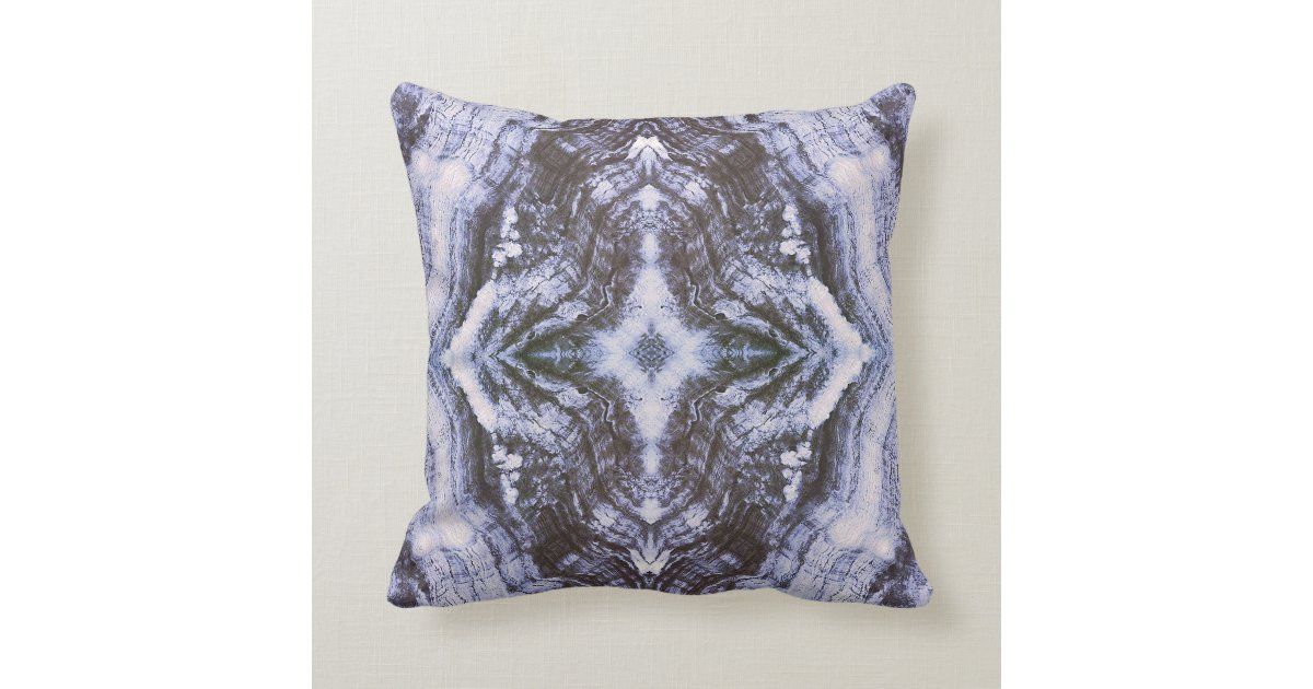 Grayson Throw Pillow Textured in Blue and White Zazzle