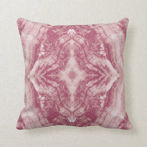 Grayson Throw Pillow Textured in Pink and White Zazzle