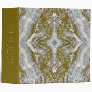 Grayson Wood Textured in Blue & Gold Binder