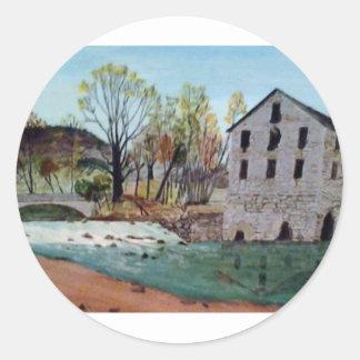 Graysville Mill -Alton Vaughn Classic Round Sticker