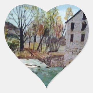 Graysville Mill -Alton Vaughn Heart Sticker