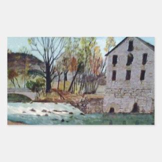 Graysville Mill -Alton Vaughn Rectangular Sticker
