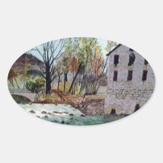 Graysville Mill -Grandpa's painting Oval Sticker