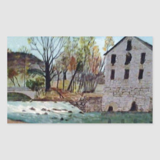 Graysville Mill -Grandpa's painting Rectangular Sticker