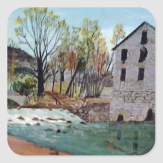 Graysville Mill -Grandpa's painting Square Sticker