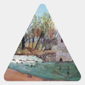 Graysville Mill -Grandpa's painting Triangle Sticker