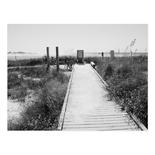 GRAYTON BEACH, FLORIDA - Black & White Postcard