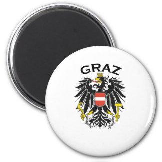 Graz, Austria Imán Redondo 5 Cm