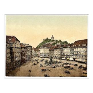 Graz, market place, Styria, Austro-Hungary classic Postcards