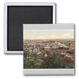 Graz, visión desde el Schlossberg, Estiria, Austro Imán De Frigorífico