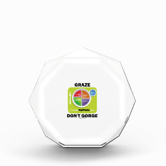 Graze Don't Gorge (MyPlate Diet Food Group Humor) Awards